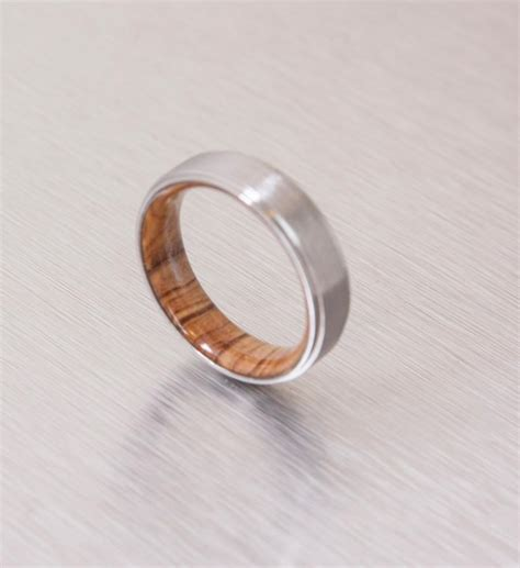 titanium and olive rings mens wood rings wood wedding