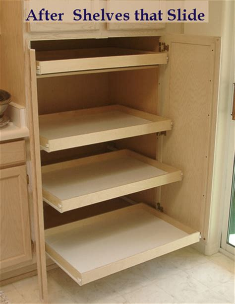 shelves that slide slideitout