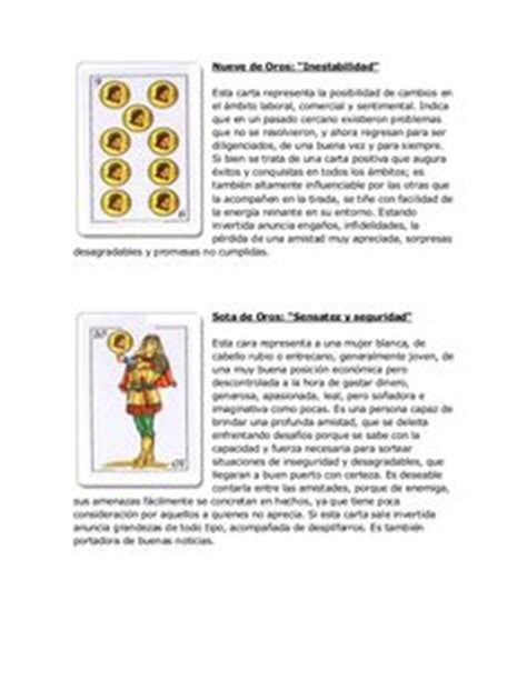 catomancia global baraja espa 241 ola as de oros significado de la carta