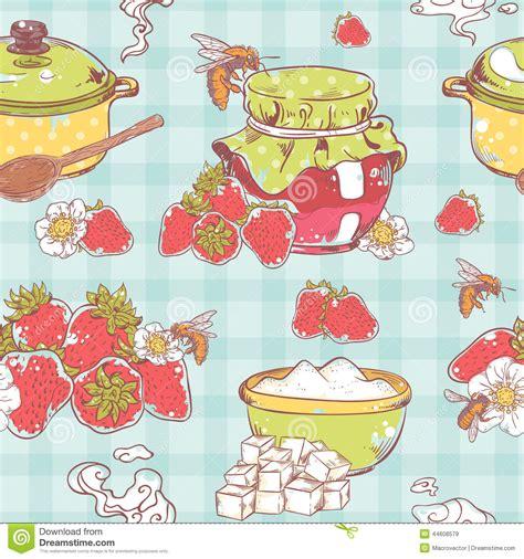 pattern of jam strawberry jam seamless pattern stock vector image 44608579