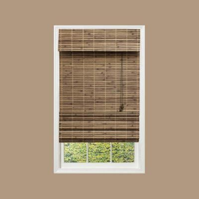 home depot l shades driftwood flatweave bamboo shade 48 in w x 72 in