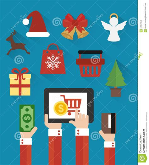 merry christmas and new year sale modern flat design
