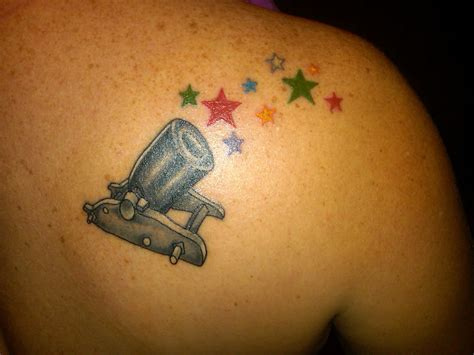 cannon tattoo cannon of my families birthstone colors in