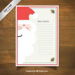 santa claus letter template santa claus letter template vector free