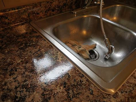 kitchen sink caulk caulking sink after giani granite paint the diy