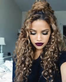 hair cuts for naturally curly frizzy hair and chin curly half buns hergivenhair