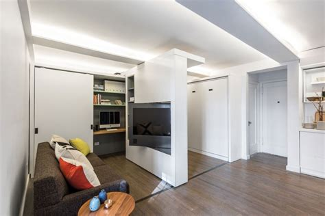 sliding wall maximizing space in new york micro home the five to one apartment freshome
