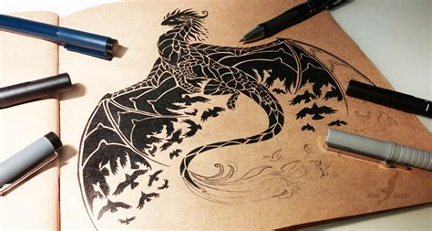night raven dragon by alviaalcedo on deviantart