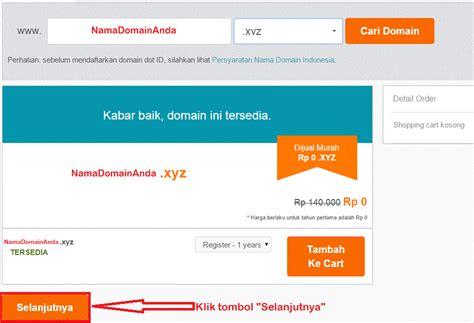 mendapatkan domain xyz gratis  niagahoster