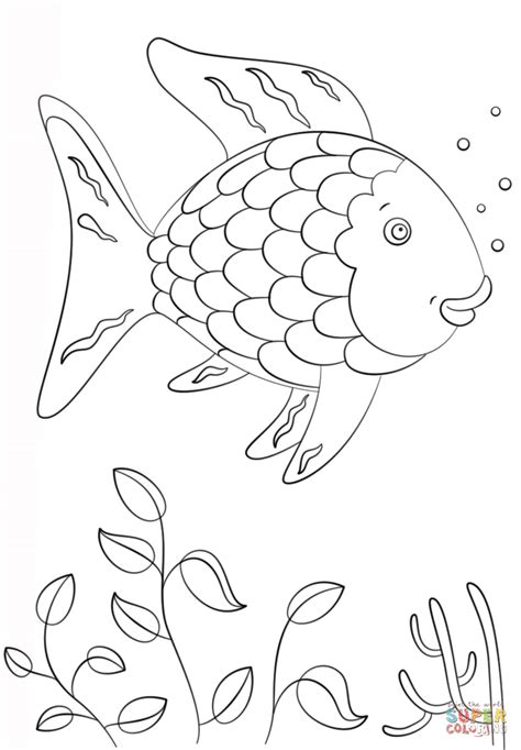 rainbow fish colouring template rainbow fish coloring page free printable coloring pages