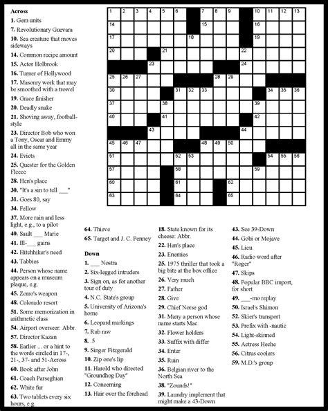 printable free online crossword puzzles puzzles download free printable graphics