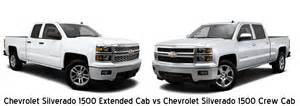 silverado extended cab vs silverado crew cab davis