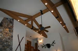Wood truss design with faux beams faux wood workshop