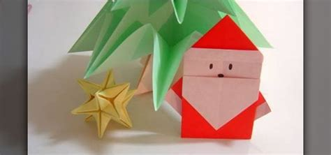 Origami Chrismas - how to fold a simple origami santa claus for