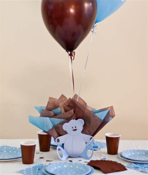 teddy baby shower centerpieces teddy baby shower balloon centerpieces with personalized