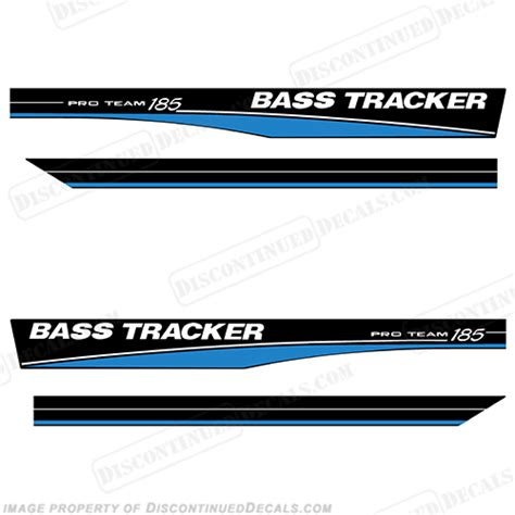 triton boats discontinued bass tracker pro team 185 decals blue