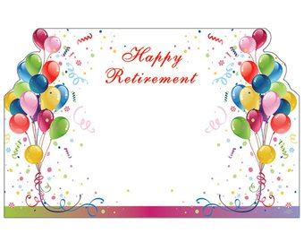 Happy Retirement Cards Templates by 50 Balloons Quot Happy Retirement Quot Print Florist Blank