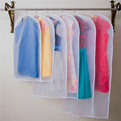 Cloth Dust Cover Pakaian Hanger Bag Organizer Yax usa transparent wardrobe storage bags cloth hanging garment suit coat dust cover ebay