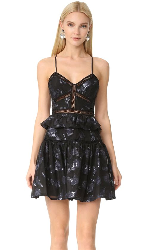 Sale Dresses 100 At Shopbop Part 2 by Strappy Floral Jacquard Dress In Black Lyst