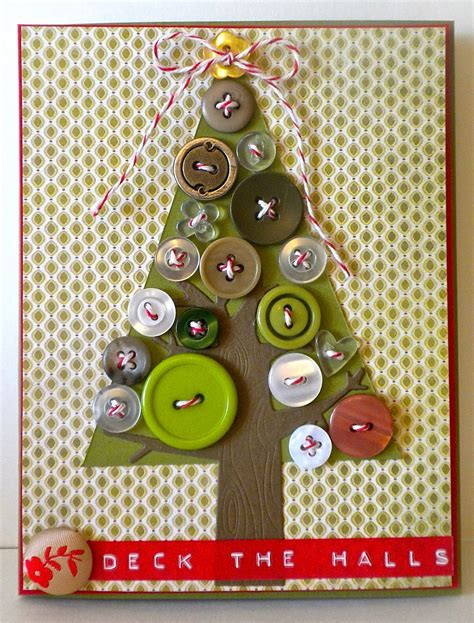 button cards make your own paper button tree card