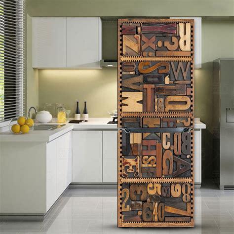 Refrigerator Sticker 60x150 Cm Gre114 yazi cucina decor copertura frigorifero frigo ristrutturato sticker pvc adesivo carta da parati