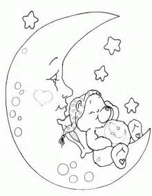 bear sleeping on moon coloring pages printfree