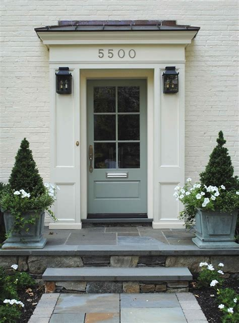 Flat Front Door Interesting Alternative To A True Portico May Add More Dimension To The Otherwise Flat Front Of