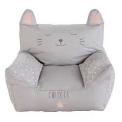 fauteuil enfant en coton imprim 233 gris cats maisons du monde