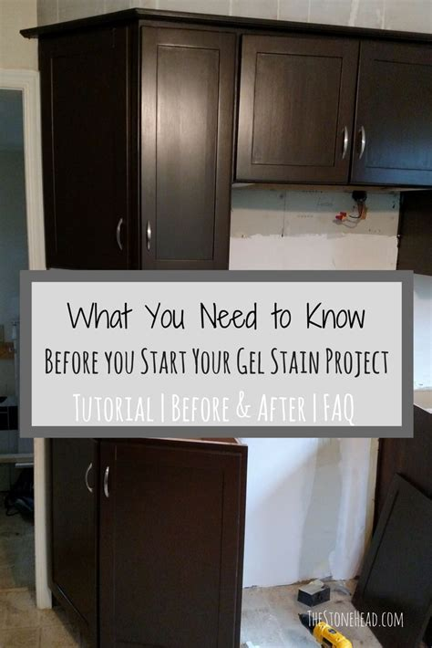 how to stain cabinets that are already stained how to apply gel stain to cabinets