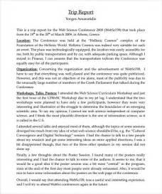 field trip report template sle trip report 9 documents in pdf