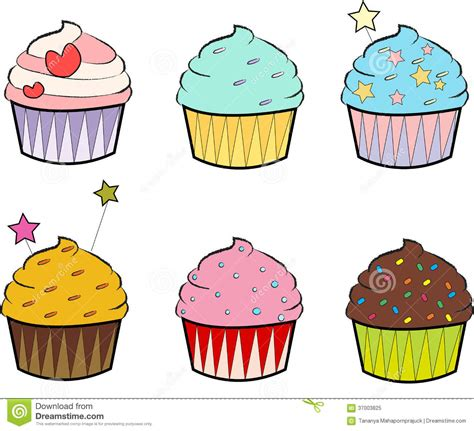 Colourful Cupcakes stock illustration. Illustration of ... Free Clipart Cupcakes
