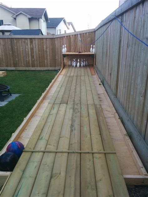 build  backyard bowling alley diy projects