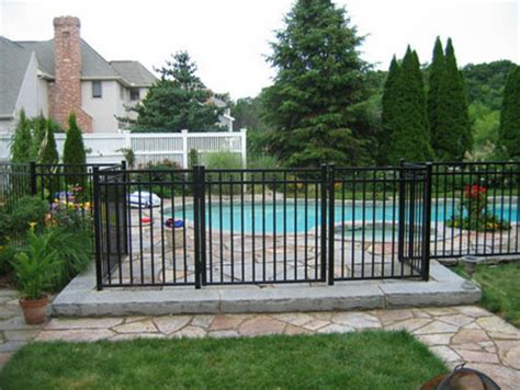 backyard metal fence front yard and back yard fences metal wrought iron railings gates fences toronto