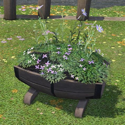half barrel planter half barrel planter ffxiv housing outdoor furnishing