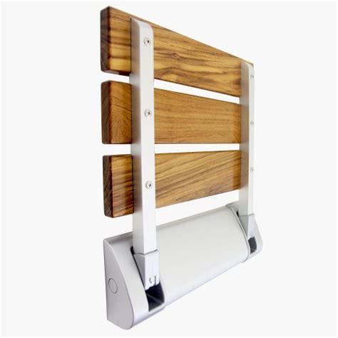 teak wood folding shower seat bench spa comfort bath decor