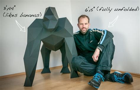 How To Make A Gorilla Out Of Paper - papertrophy diy lifesize gorilla