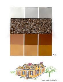 what colors compliment brown colors to go with a black roof brown hairs