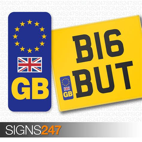 ebay eu gb number plate sticker with uk flag for motorcycles