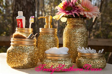 glitter bathroom sets 24 ways to add glitter to your home decor home designing
