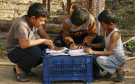 Syari And Kid 1 in 4 children in the middle east out of school al