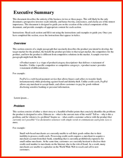 apa format executive summary template executive summary exle apa exle