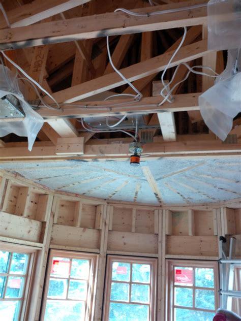 spray foam ceiling dow 2lb spray foam on basement ceiling
