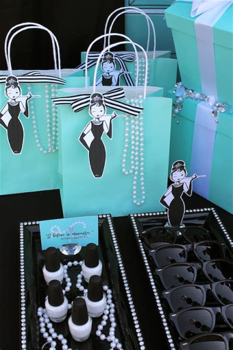 breakfast at tiffany s party props set 20 piece by breakfast at tiffany s inspired quinceanera laura s