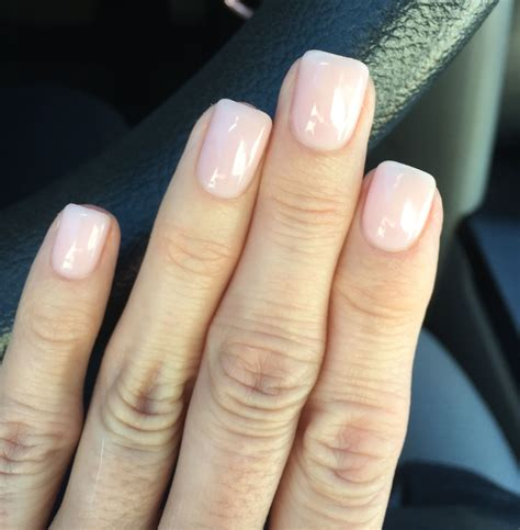 Opi Gelcolour Bath this two coats of opi gelcolor quot bath quot one coat cnd shellac quot negligee quot pink