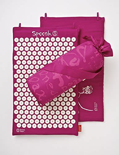 spoonk cotton pagoda blue acupressure mat with