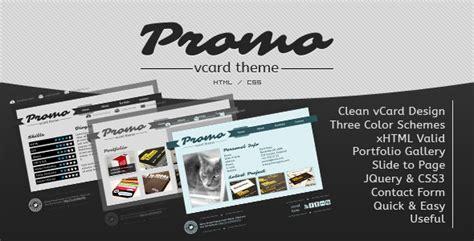 demdous mobile vcard template by thememarket themeforest promo vcard template by promothemes themeforest