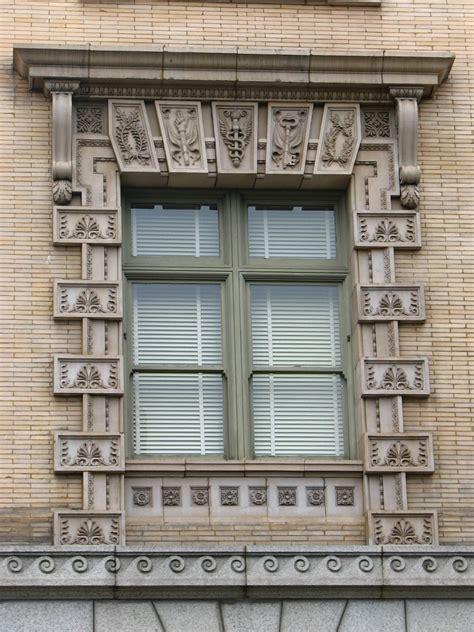 File Us Custom House Window Detail Portland Oregon Jpg Wikimedia Commons