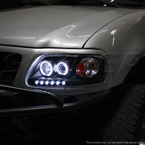 ford f150 halo lights 97 03 ford f150 dual angel eye halo led projector
