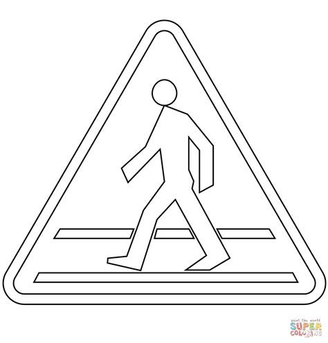 coloring pages of zebra crossing pedestrian crossing ahead a 16 coloring page free
