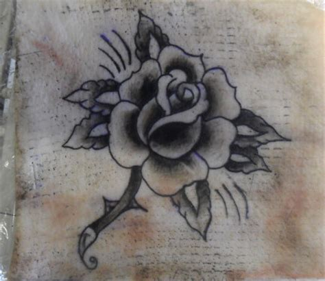 traditional black rose tattoo traditional black and white